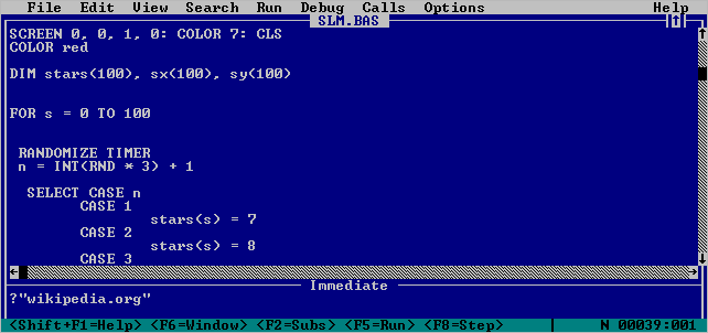 Introduction To QBasic - Pete's QBASIC / QuickBasic Site